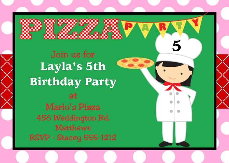Free Printable Pizza Party Invitations - klejonka
